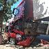Carreta desgovernada esmaga outro veículo estacionado na Rua Valparaíso