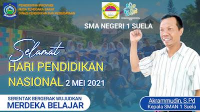 Kepala SMAN 1 Suela Mengucapkan Selamat Hardiknas 2021