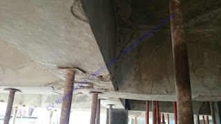 struktur balok beton yang harus diperkuat serat karbon