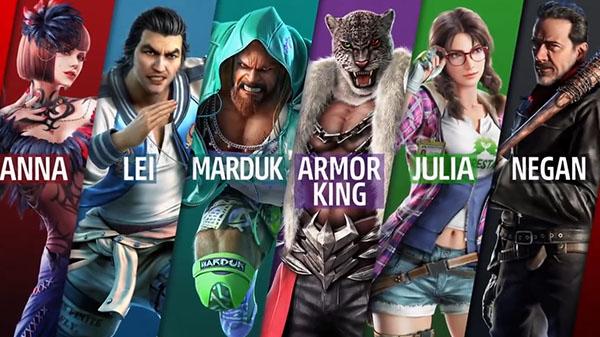 Craig Marduk, Armor King, Julia Chang telah bergabung dalam roster Season 2 Tekken 7. Dan juga gameplay Negan telah diperlihatkan.