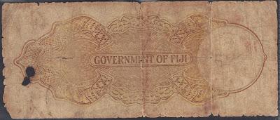 Fiji 5 Shillings 1940 P# 37c