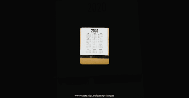 calendarios de pared 2020 imprimibles gratis