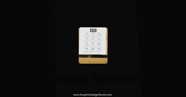 3 estilos de calendarios de pared 2020 para imprimir