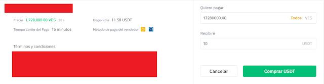 Comprar USDT venezuela binance
