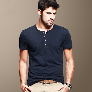Henley T-shirt for men