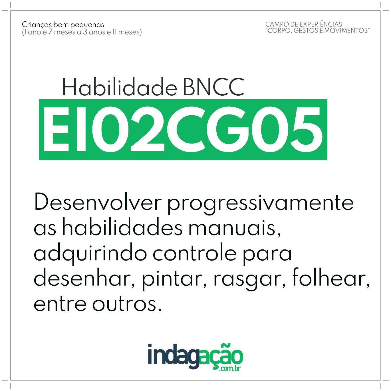 Habilidade EI02CG05 BNCC