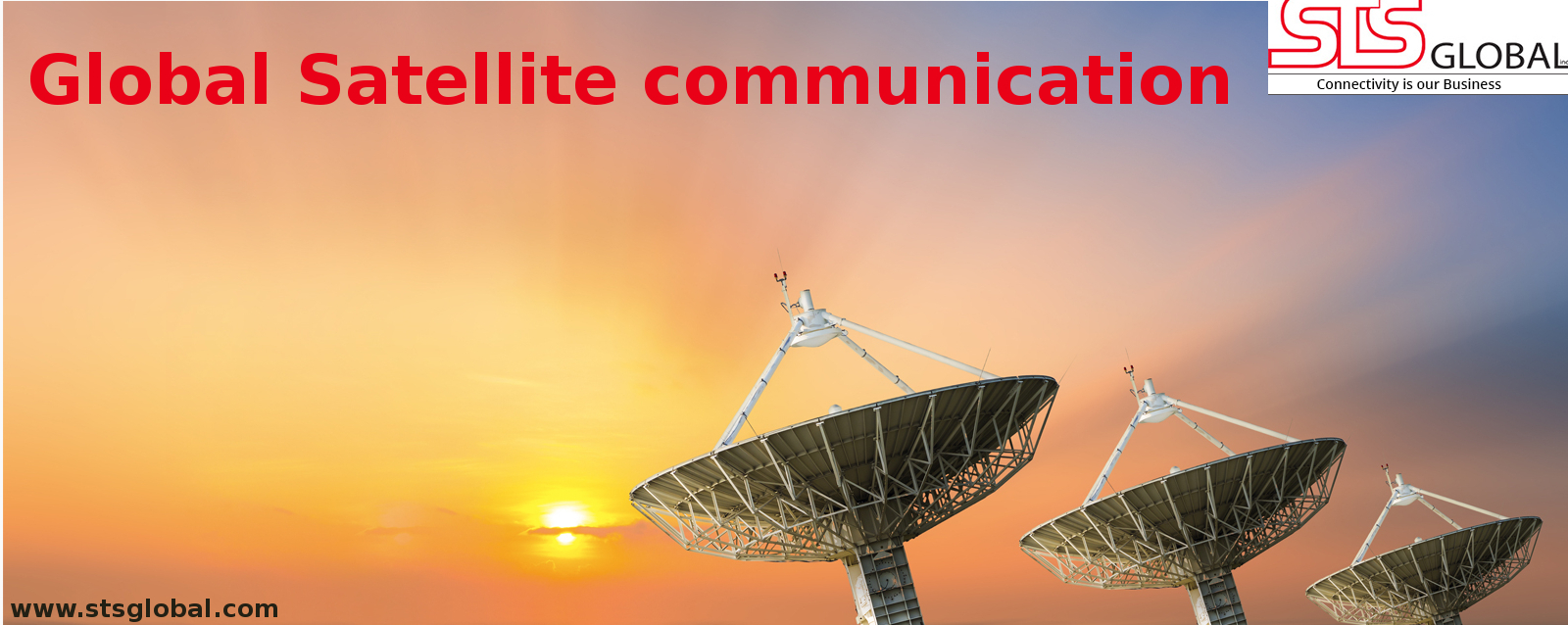 satellite communication equipment or system satellites are used for global satellite communication global communication is used to describe