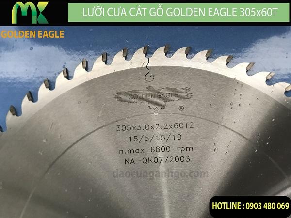 Lưỡi cưa cắt gỗ Golden Eagle 305x60T