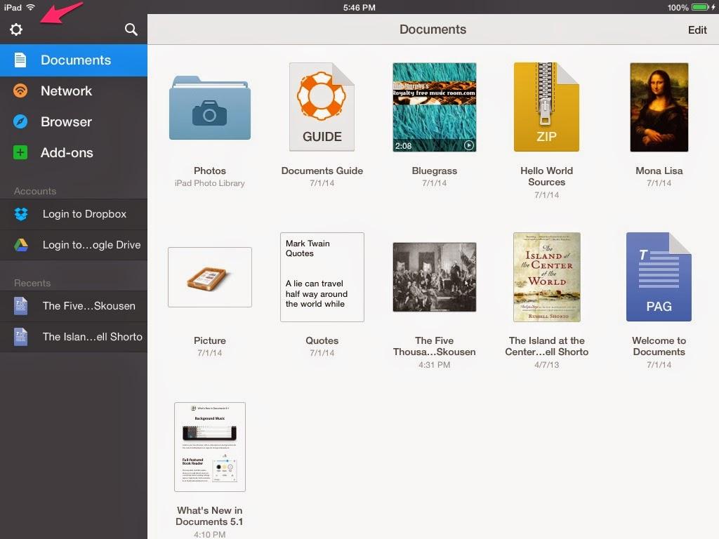 Granny Joan's Hitek Lady Blog: Using Documents App (by