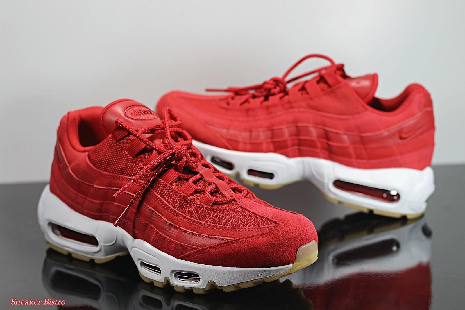 reputable site ae467 5affd Nike Air Max 95 Premium Gym Red