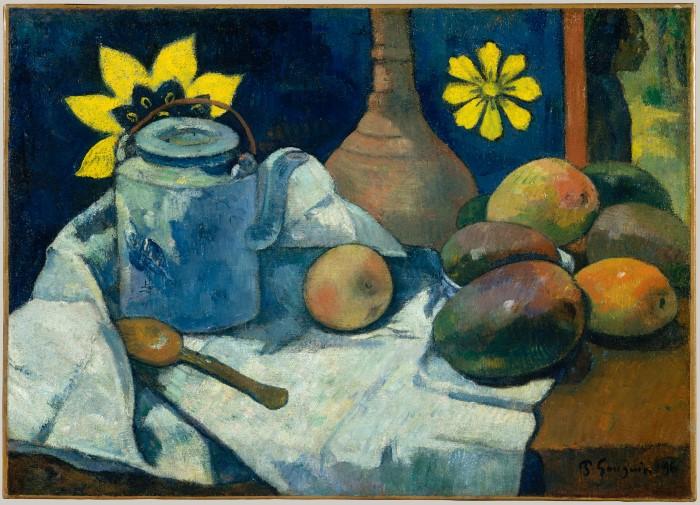 Натюрморт с чайником и фруктами. Paul Gauguin