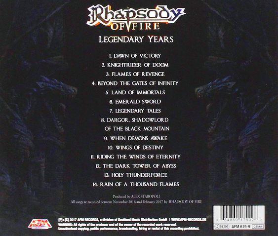 Resultado de imagen para rhapsody of fire legendary years