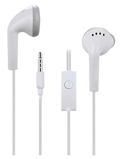 Samsung EHS61 Hands-Free Headset Earphone Compatible for All Samsung Smartphones (White)