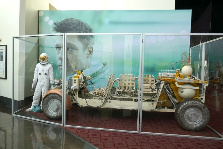 Ad Astra astronaut suit and space buggy exhibit