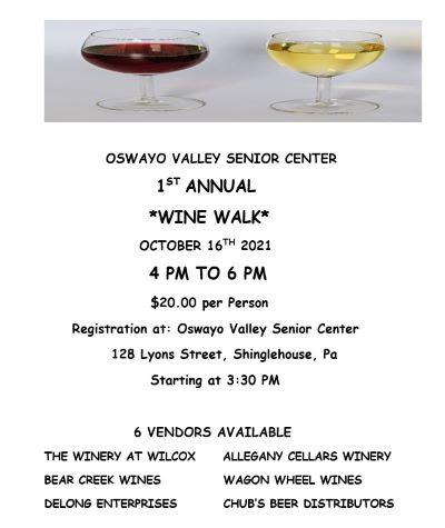 10-16 Oswayo Valley Senior Center Wine Walk
