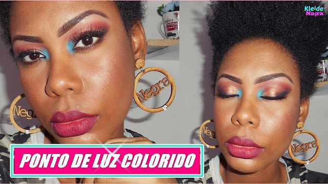 Maquiagem Ponto de Luz Colorido