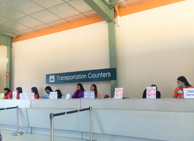 Transportation Counters at Boracay Airport