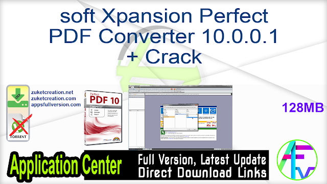 soft Xpansion Perfect PDF Converter 10.0.0.1 + Crack