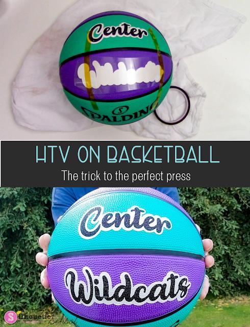 silhouette 101, silhouette america blog, heat transfer vinyl, cricut easypress, HTV on basketball
