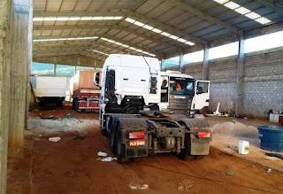 Polícia Militar recupera caminhões