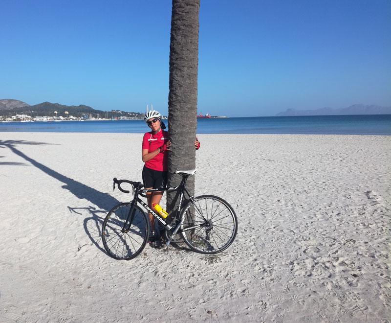 Sulla spiaggia a Port d'Alcudia, 22 febbraio 2019