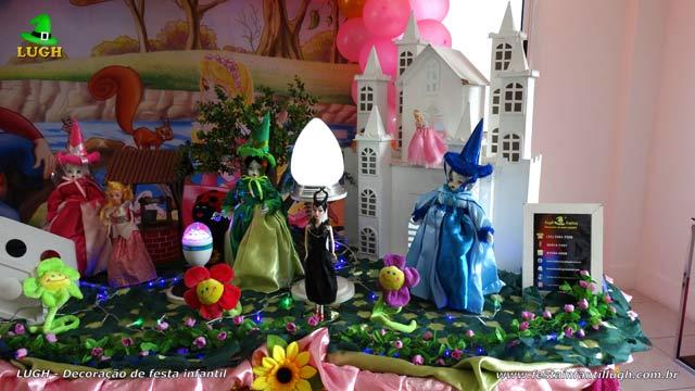 Decoração mesa de aniversário A Bela Adormecida - Festa infantil