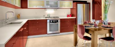 Gambar Dapur Berbentuk L