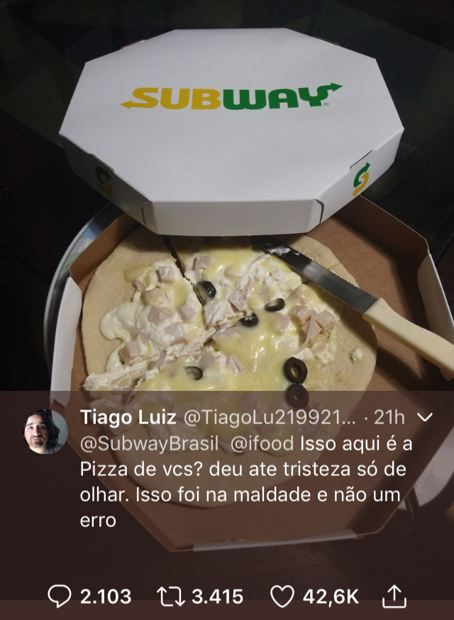 Pizza, Subway
