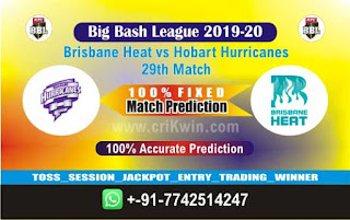 cricket prediction 100 win tips Brisbane vs Hobart