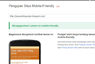 Google Mobile Friendly Testing Tools