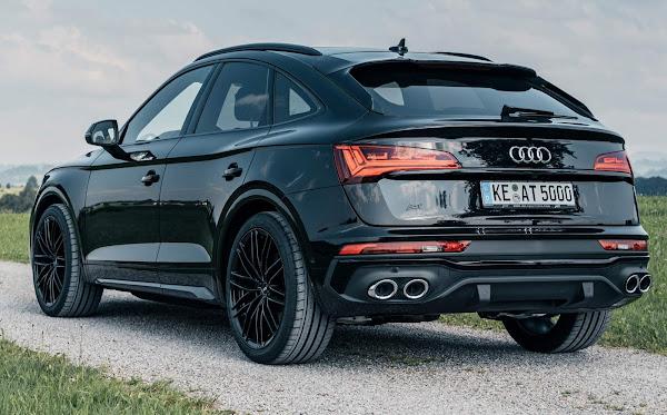 Audi Q5 Sportback Preto rebaixado com rodas 21