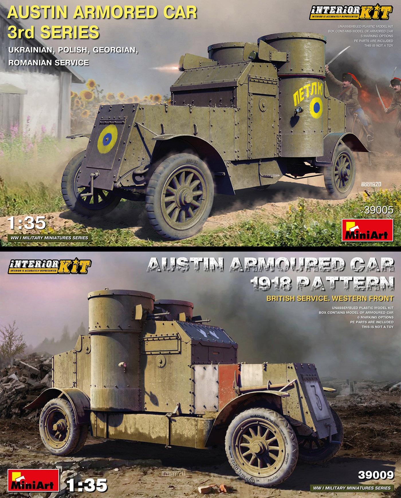 BRITISH SERVICE Model kit 1//35 MiniArt  39009 Austin Armoured Car 1918 Pattern