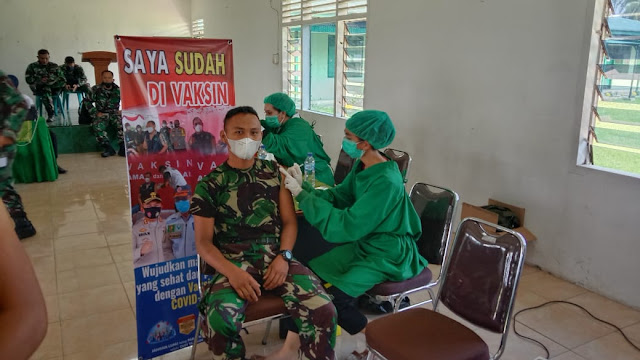 Vaksin Tahap ll, Personel Jajaran Kodim 0207/Simalungun Turut Serta Mengkutinya