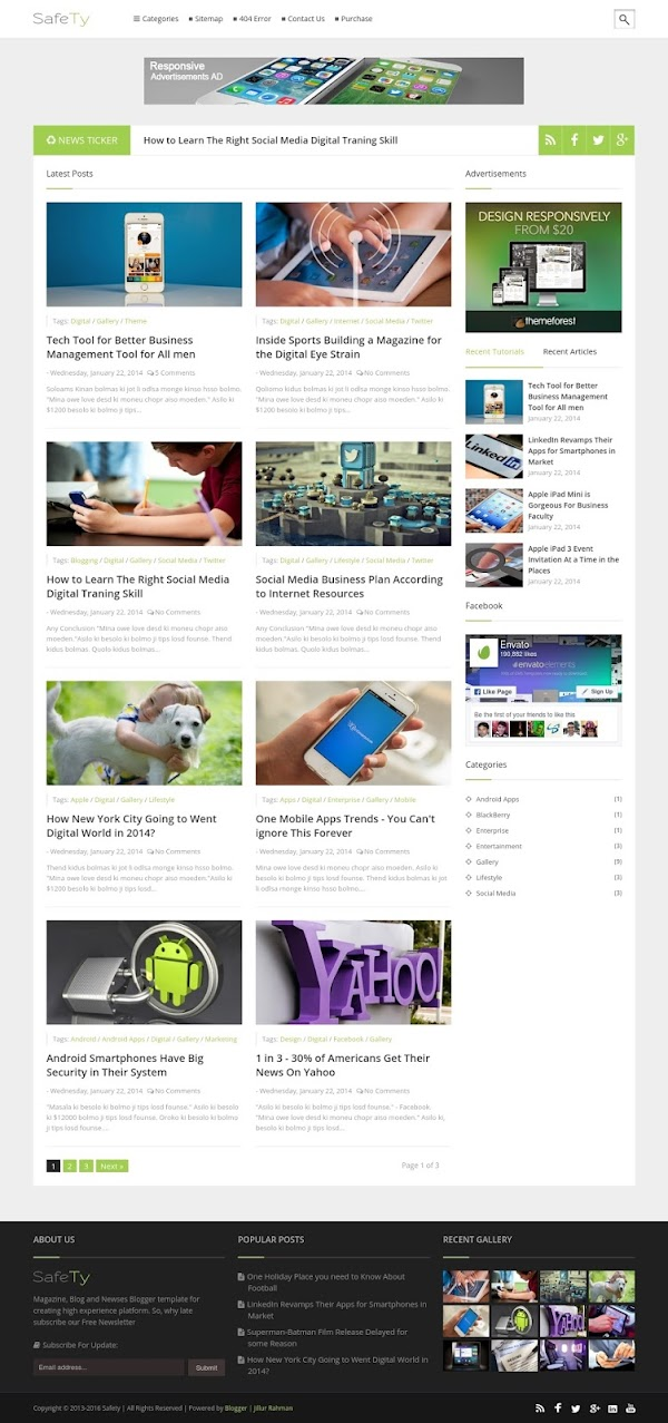 Safety Blog Template