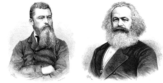 Ludwig Feuerbach und Karl Marx