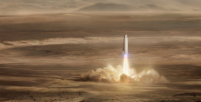 The main goal of the Mars rocket would be to support the colonization of the Red Planet, but SpaceX hopes to utilize it for near-Earth markets as well. Image Credit: SpaceX