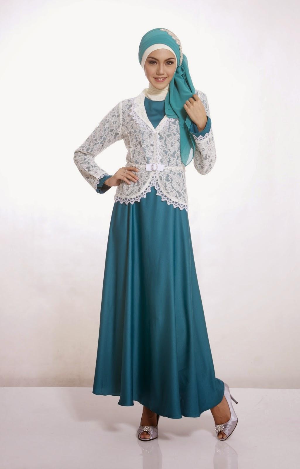 20 Contoh Model Baju Muslim untuk Pesta Terbaik 2015