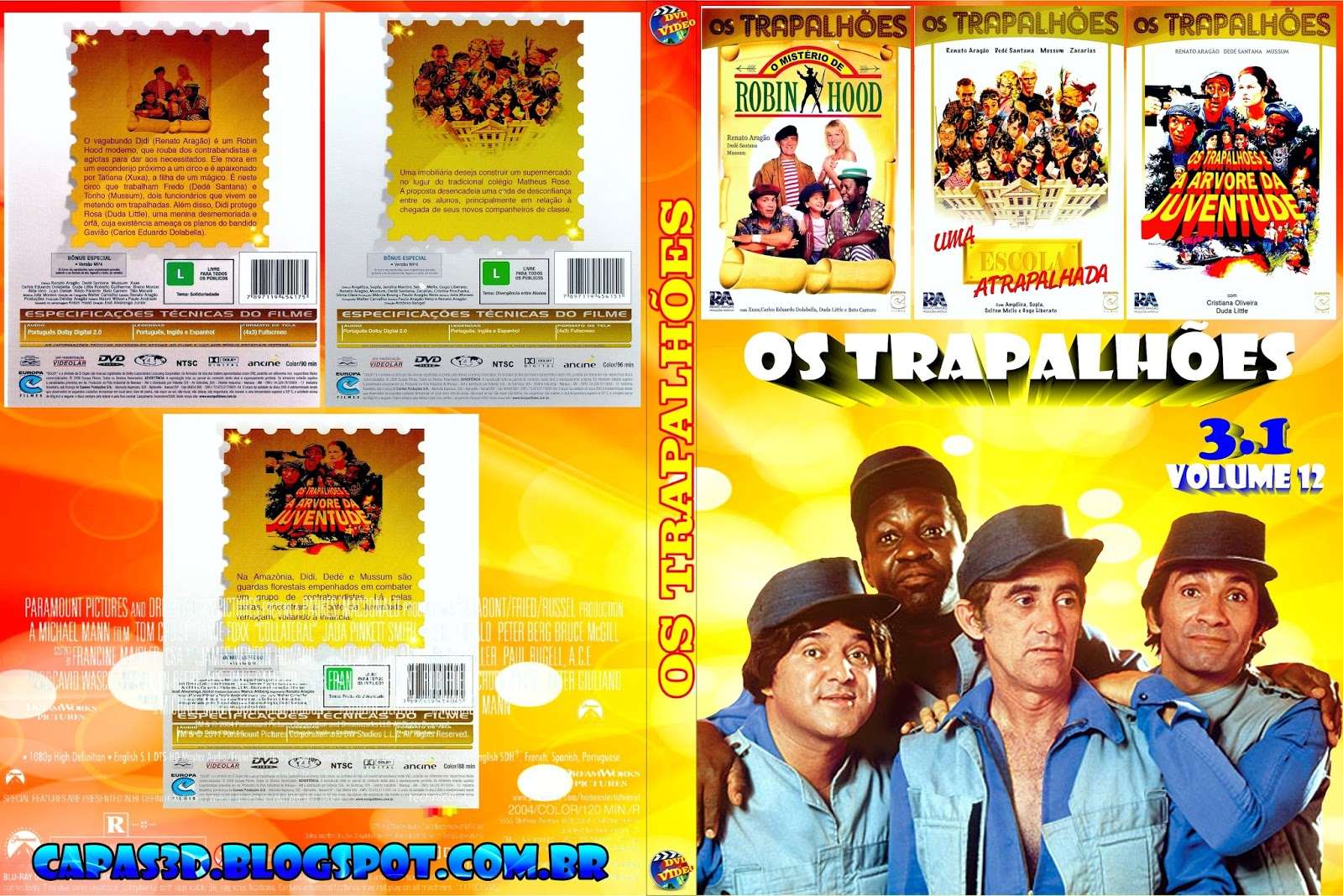 dvd de os trapalhoes