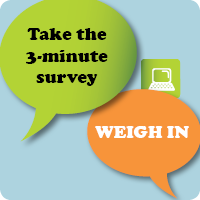 Take the 3-minute survey.