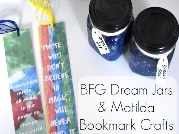 BFG Dream Jars & Matilda Bookmark Crafts {To Celebrate Roald Dahl Day}