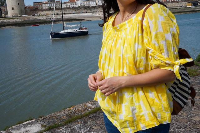 photo detail top jaune see by chloe