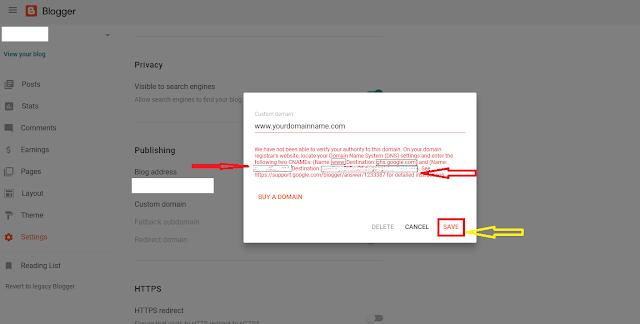 Setup GoDaddy Custom Domain On Blogger | Custom Domain