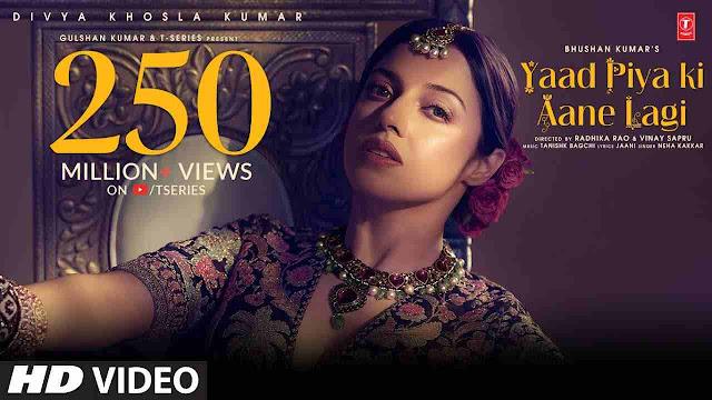 Yaad Piya Ki Aane Lagi Lyrics-Neha Kakkar-हिंदी