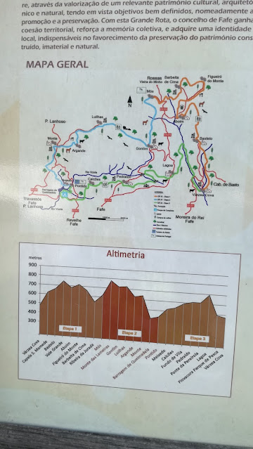 Mapa Geral dos percursos pedestres