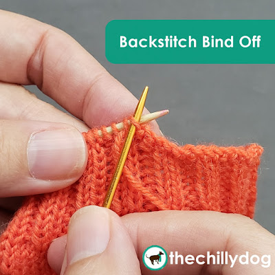 Knitting Tutorial: How to do the Backstitch Bind Off, a sewn BO for sock cuffs