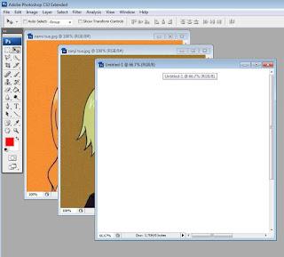 cara menggabungkan dua gambar/foto menjadi satu di photoshop cs 3