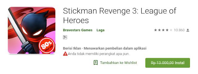 Stickman Revenge 3: League of Heroes (Free sampai 20 Agustus)