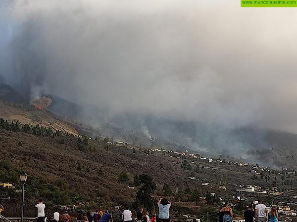 Mariano H. Zapata informa de la erupción en la isla de La Palma