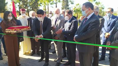 أمزازي يعطي انطلاقة بناء معهد علوم الرياضة لجامعة الحسن الأول بسطات