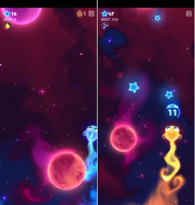 Tampilan game Starfish pada Nokia 4.2